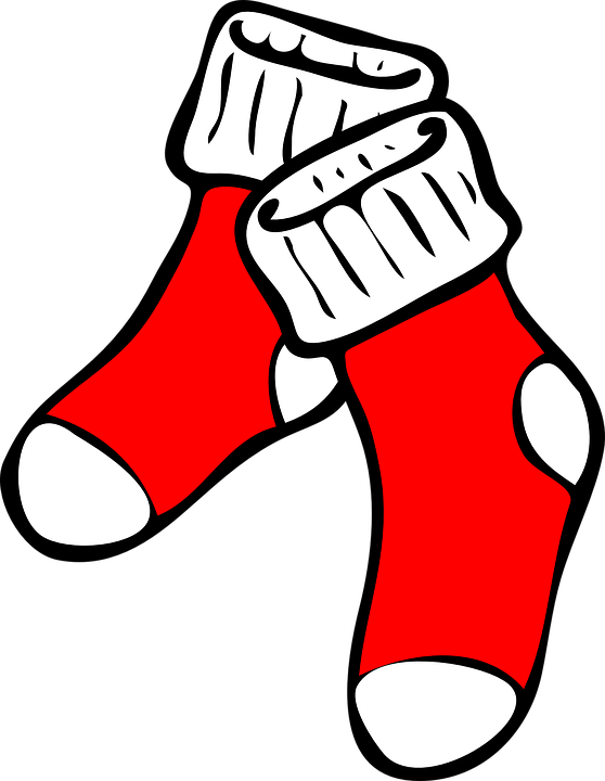 Socks, Red, Foot, Clothing,