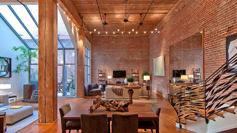 Dosis arquitectura impresionante concepto de loft abierto - Ladrillos a la vista ...
