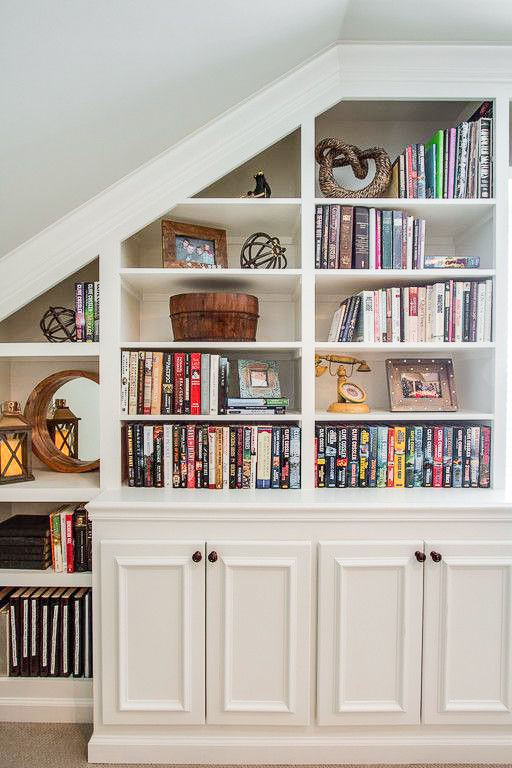 under stairs builtin bookshelves cabinets storage lebanon tn classic design construction