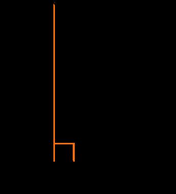треугольник с отмеченной высотой