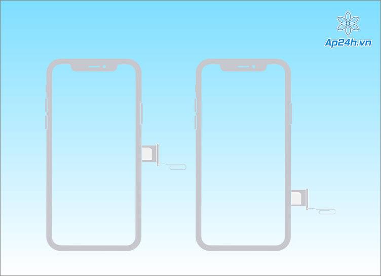 Khay SIM ở vị trí bên phải iPhone