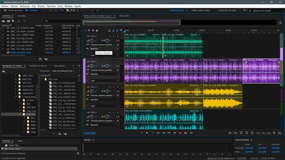 Adobe Audition - ứng dụng chỉnh sửa âm thanh trên máy tính