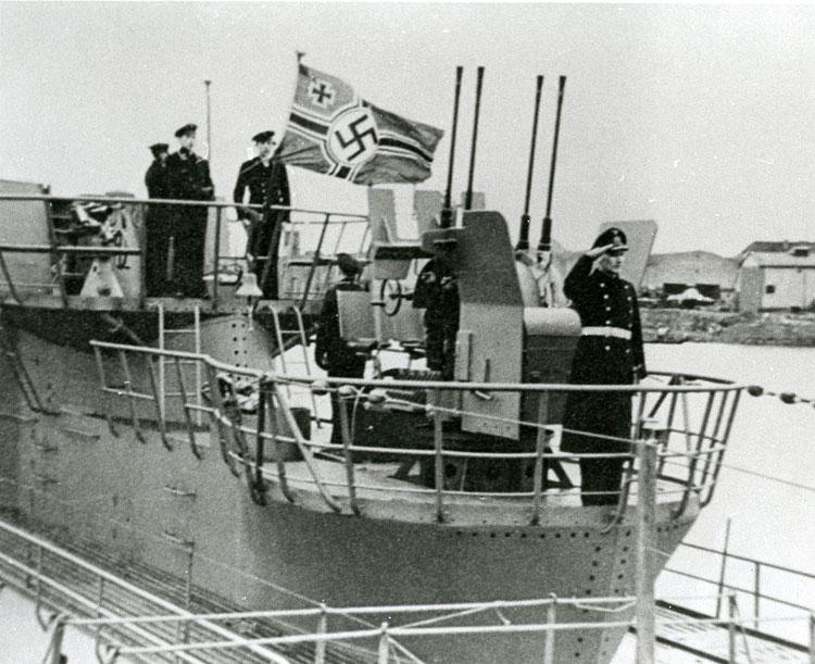 Ernst Heckler aboard U-870, 1943 or 1944