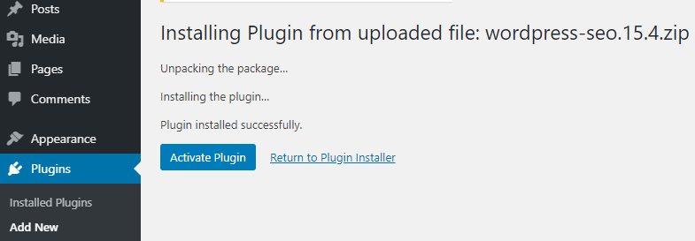Uploading WordPress Plugin