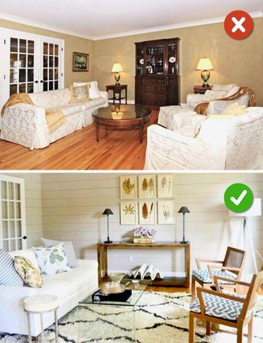 Một số sai lầm phổ biến chúng ta mắc phải khi thiết kế phòng khách