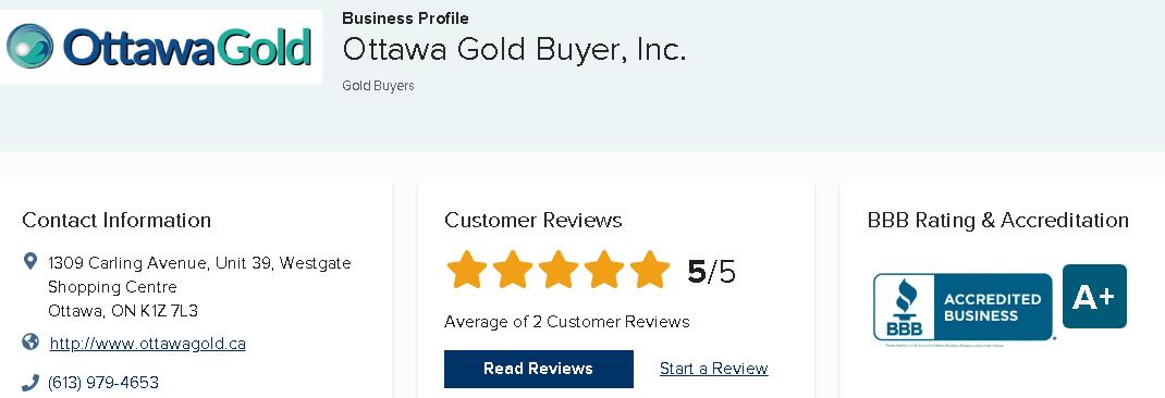 Ottawa Gold Buyers review