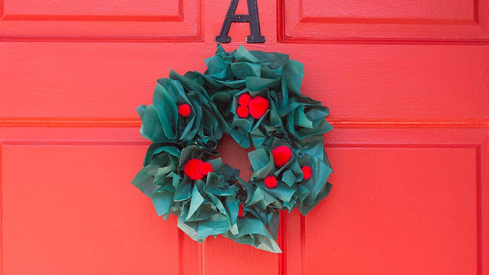 DIY Tissue Christmas Wreath