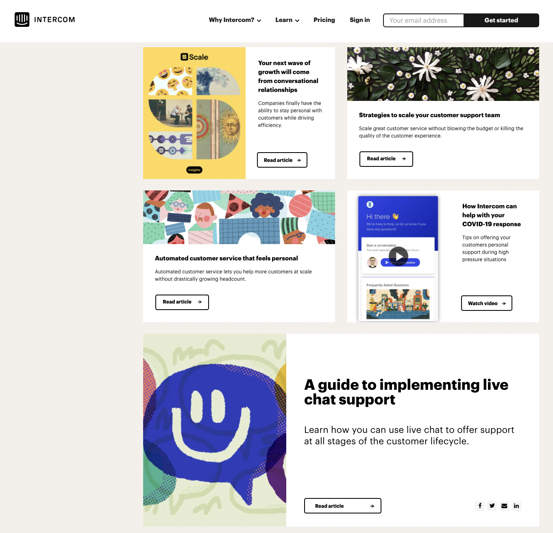 intercom blog example