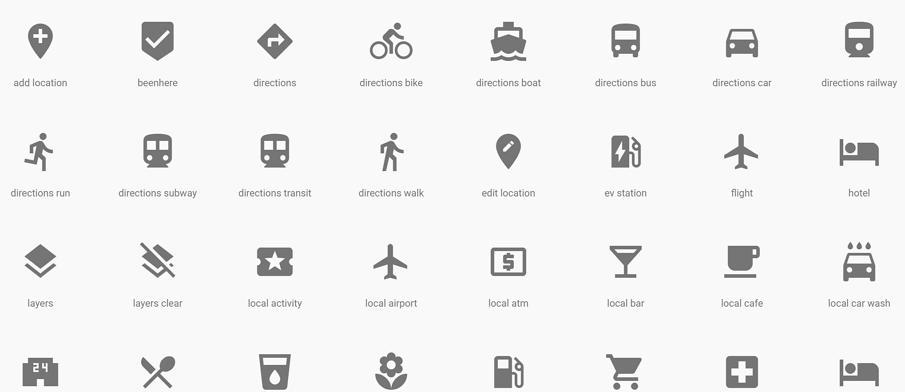 Google Material Design Icons — Google Material Icons - laor tech