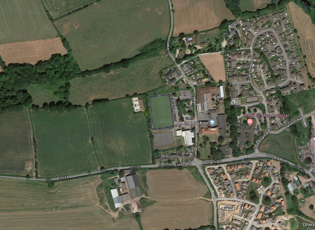 The Thorne Farm Site from above (to the west of the King's School)
