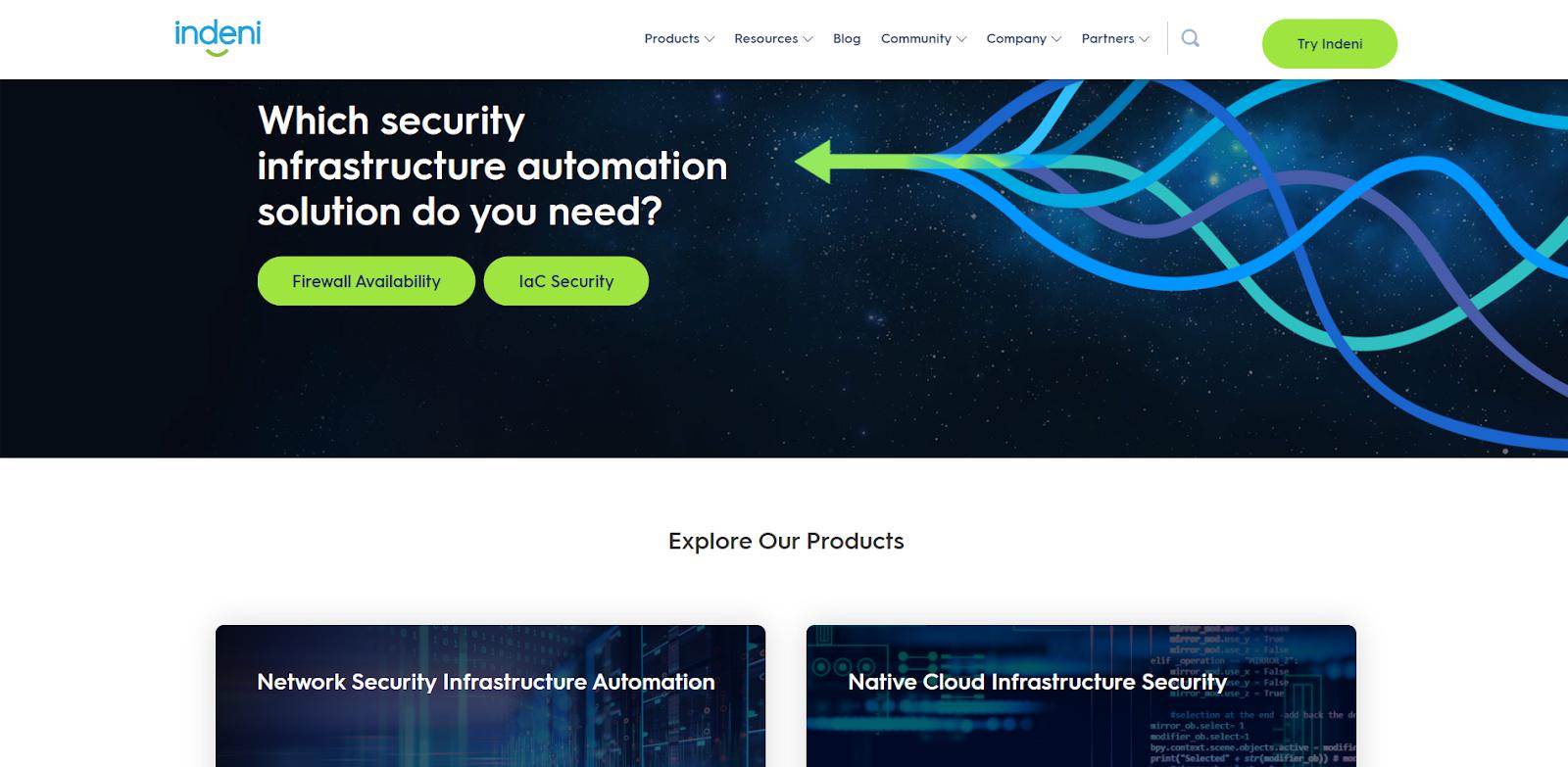Indeni Network Monitoring Tool
