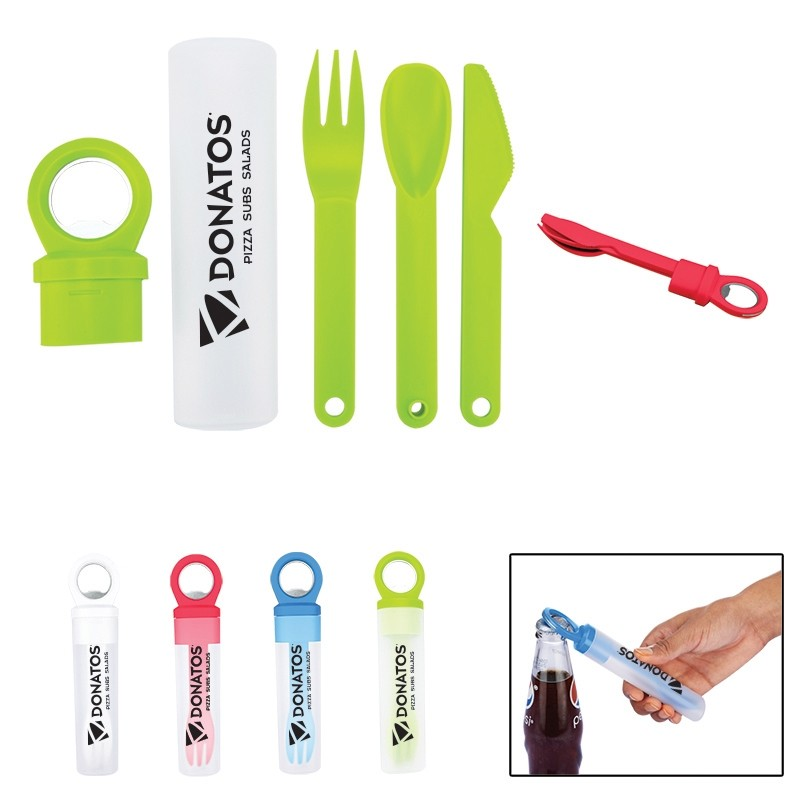 eco-friendly plastic utensil set