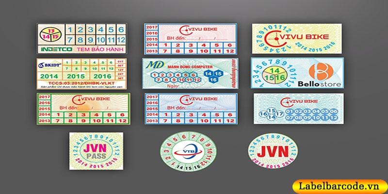 Chất liệu giấy in tem bảo hành loại decal giấy chính hãng
