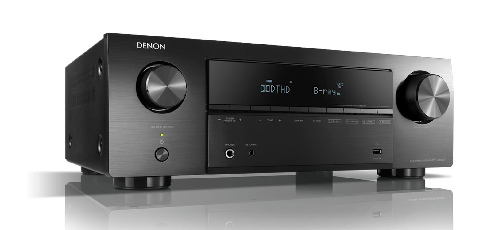 Bộ xem phim Amply Denon X550BT + Bộ 5.1 Polk Audio T50 Chất lượng - 1