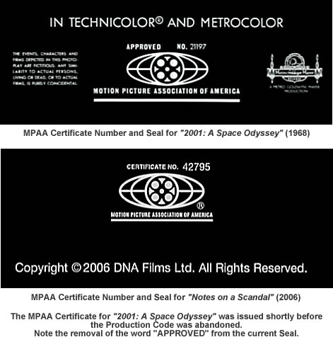 MPAA certificates and seals.