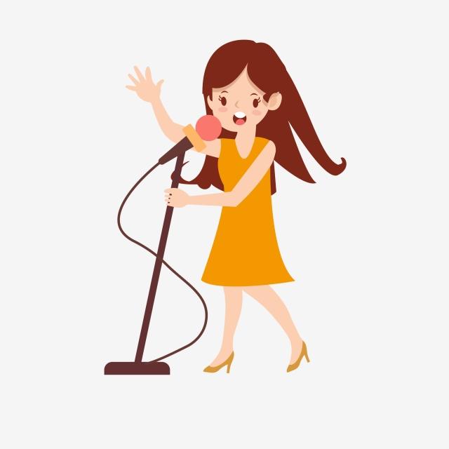Hasil gambar untuk gambar penyanyi kartun png