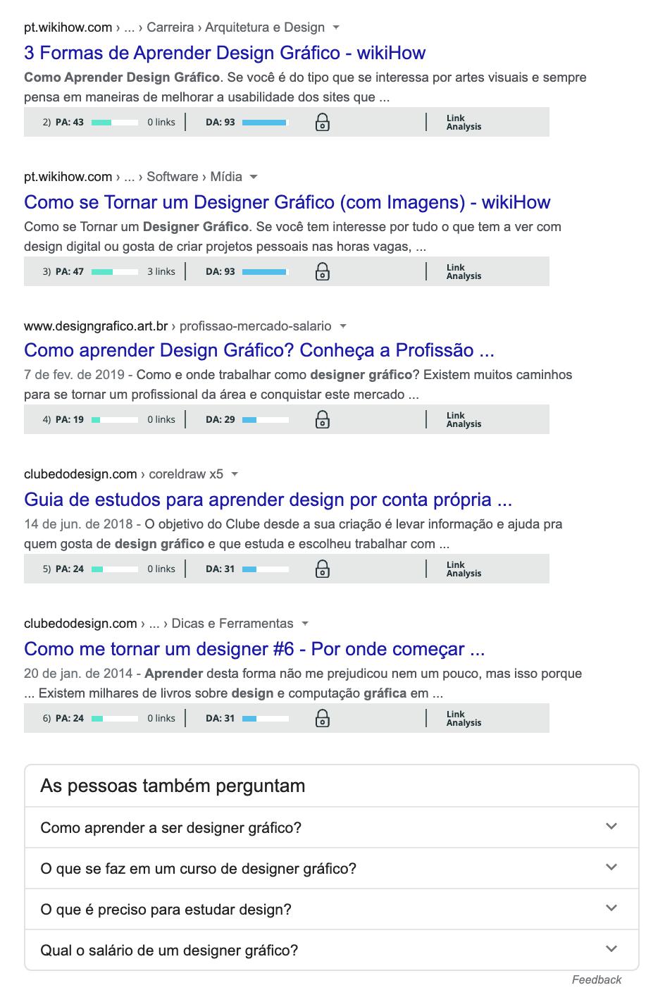Busca no Google: caixa de sugestões