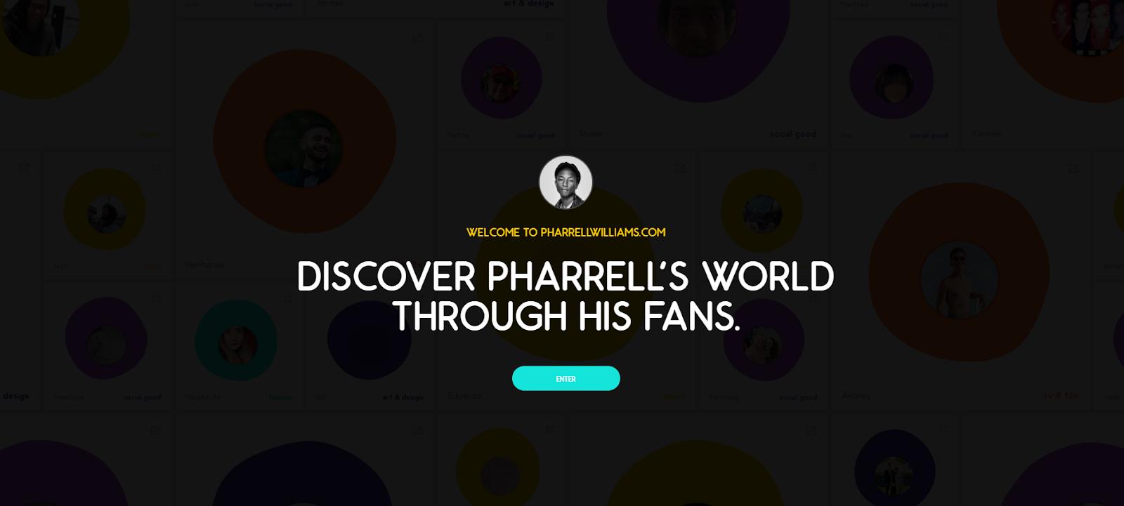 Pharrell Williams' personal website