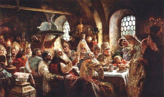 A Boyar Wedding Feast by Konstantin Makovsky