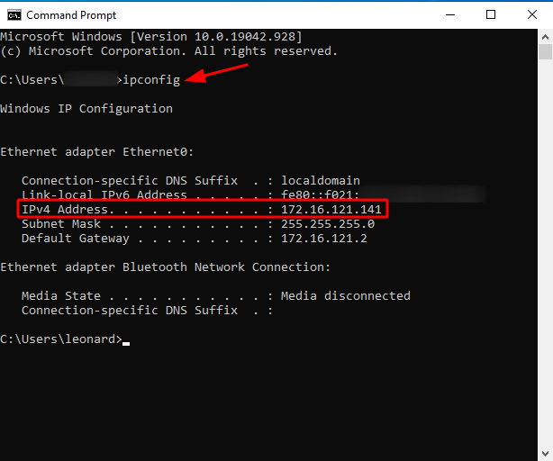 What Is My IP Address on Windows [Command Prompt]. Source: nudesystems.com