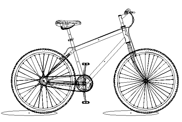 Bicycle Illustration Outline