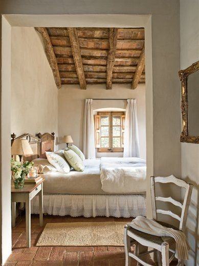 Rustic Bedroom Ideas with Exposed Ceiling