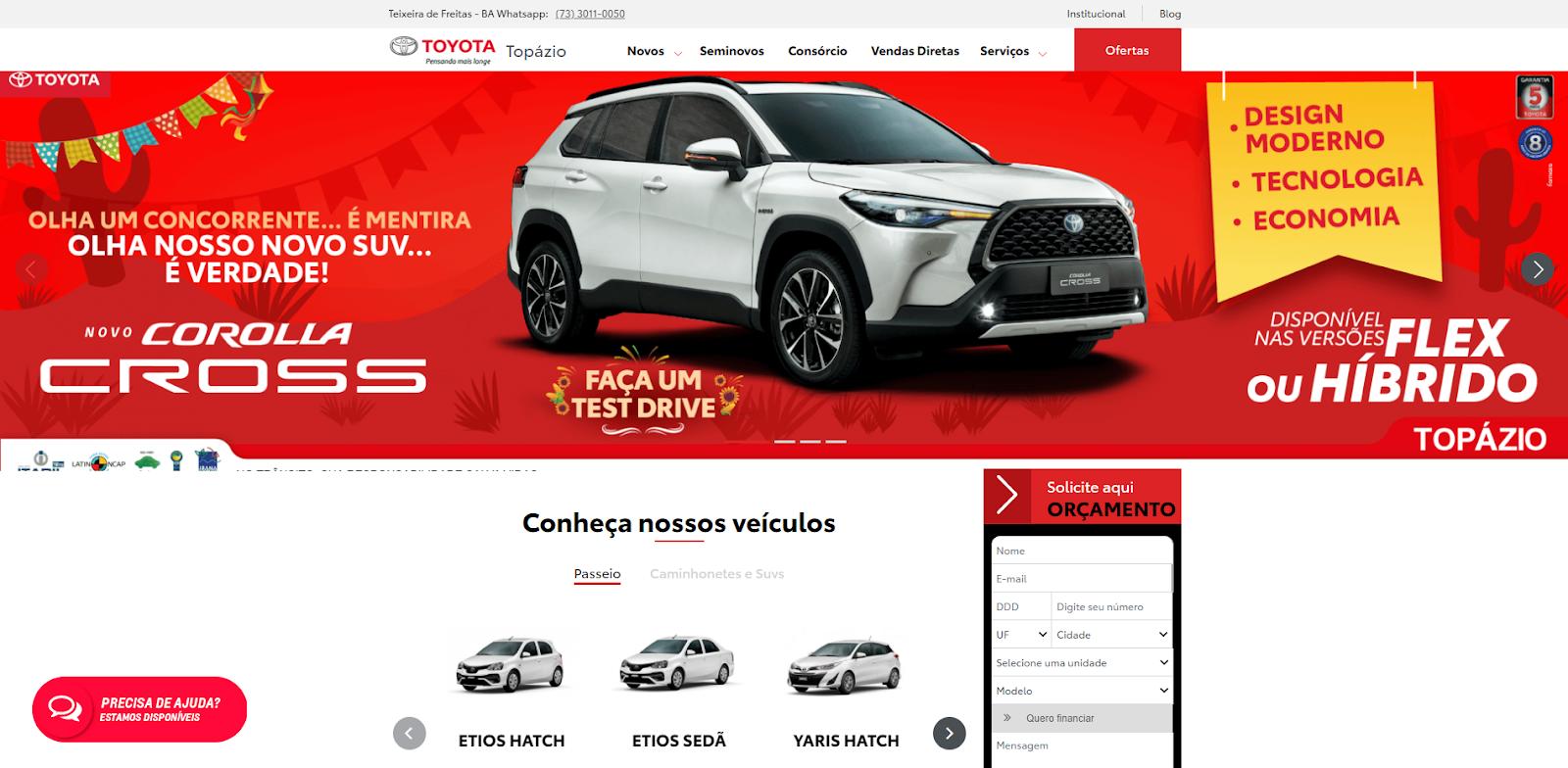 Novo site da Topázio