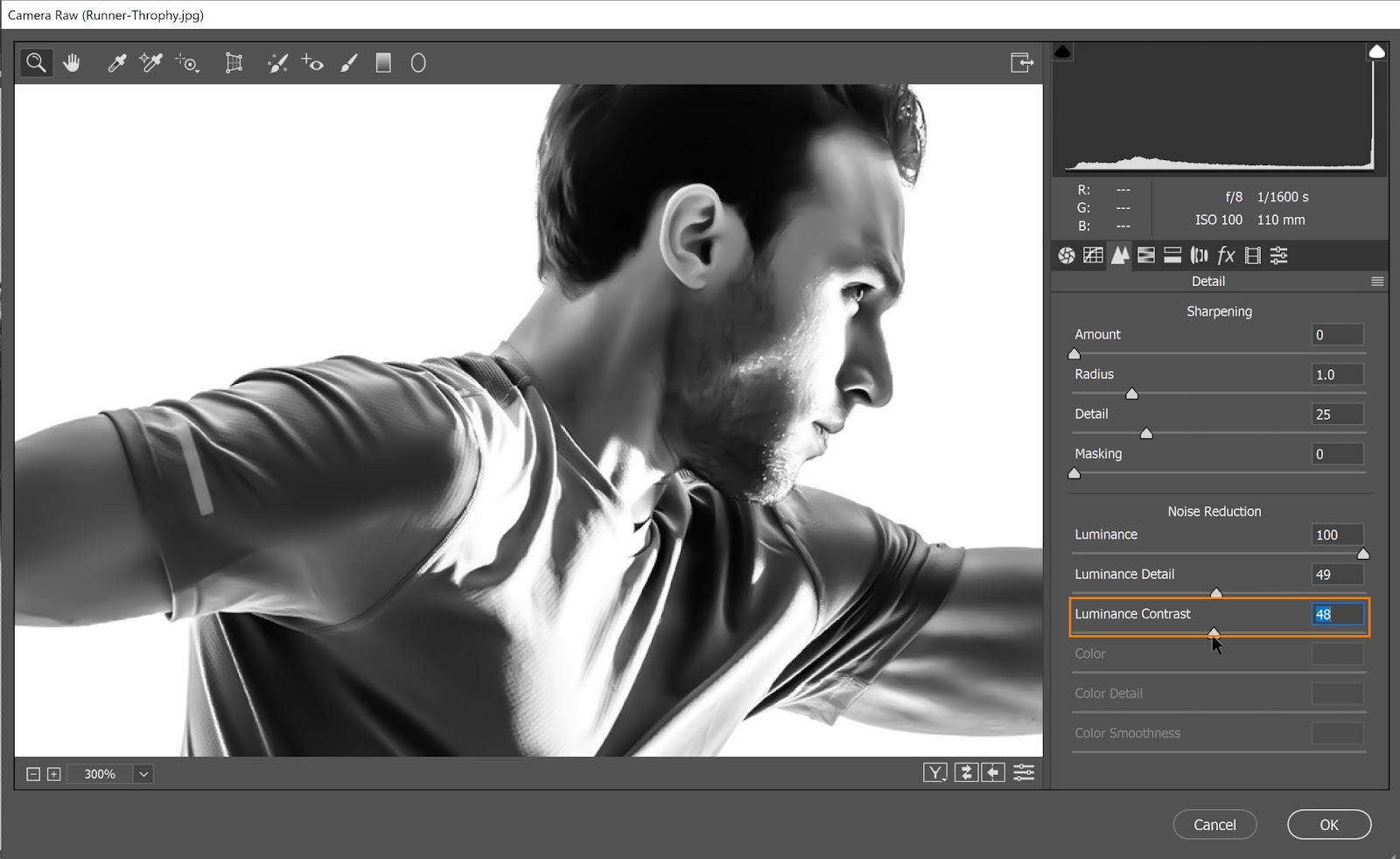 Reduce the Luminance Contrast to the minimum to produce smoother results