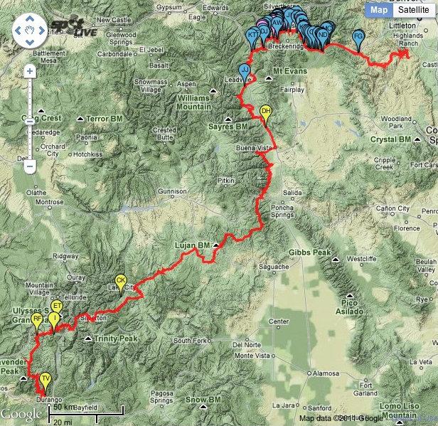 CTR route. Durango to Denver.