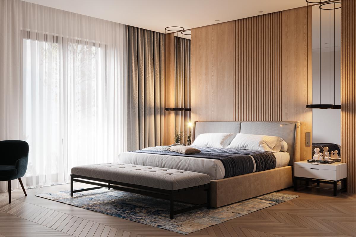 Phòng ngủ chung cư phong cách hiện đại