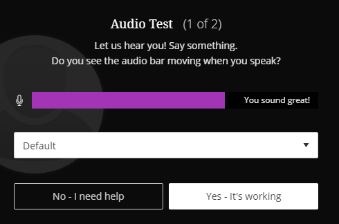 Scholar Collaborate Audio Test