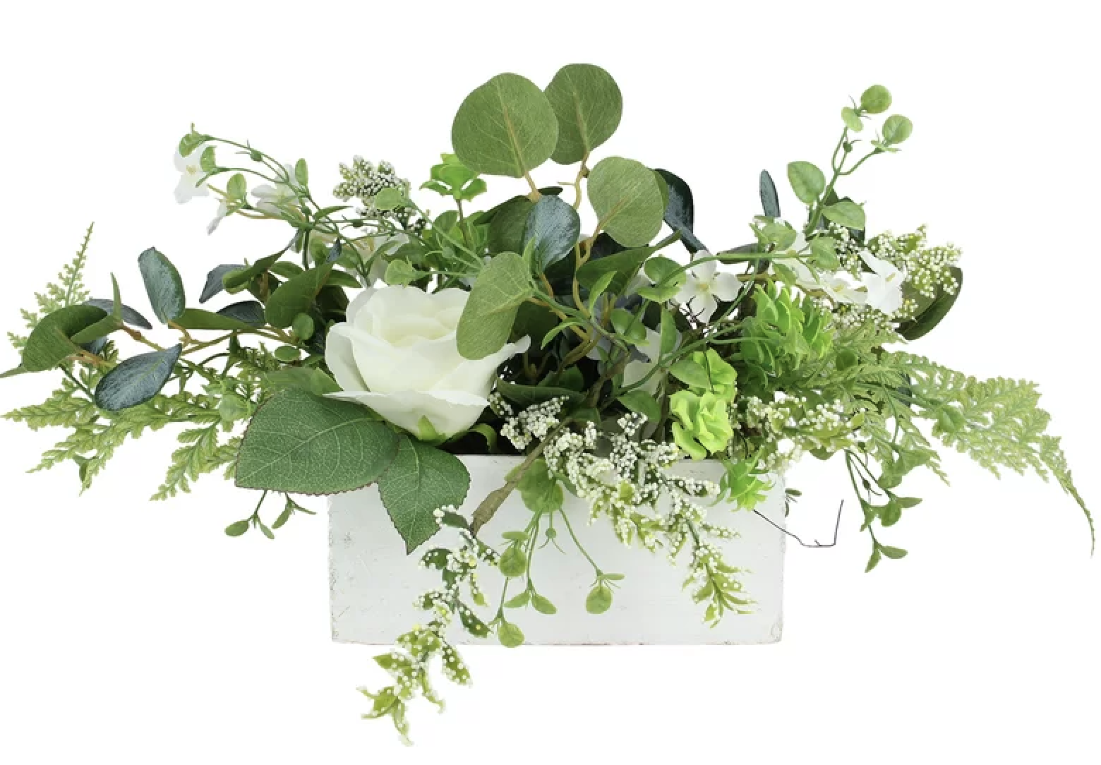 artificial spring floral and foliage arrangement