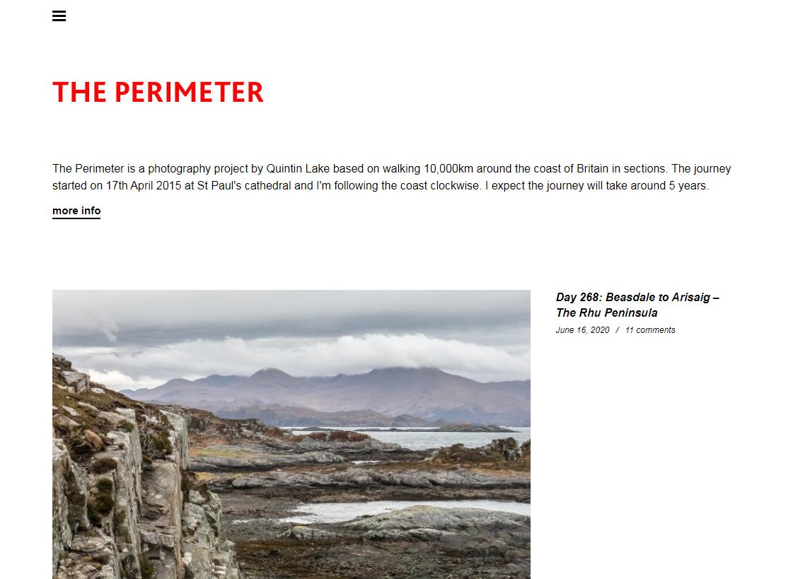 The Perimeter homepage