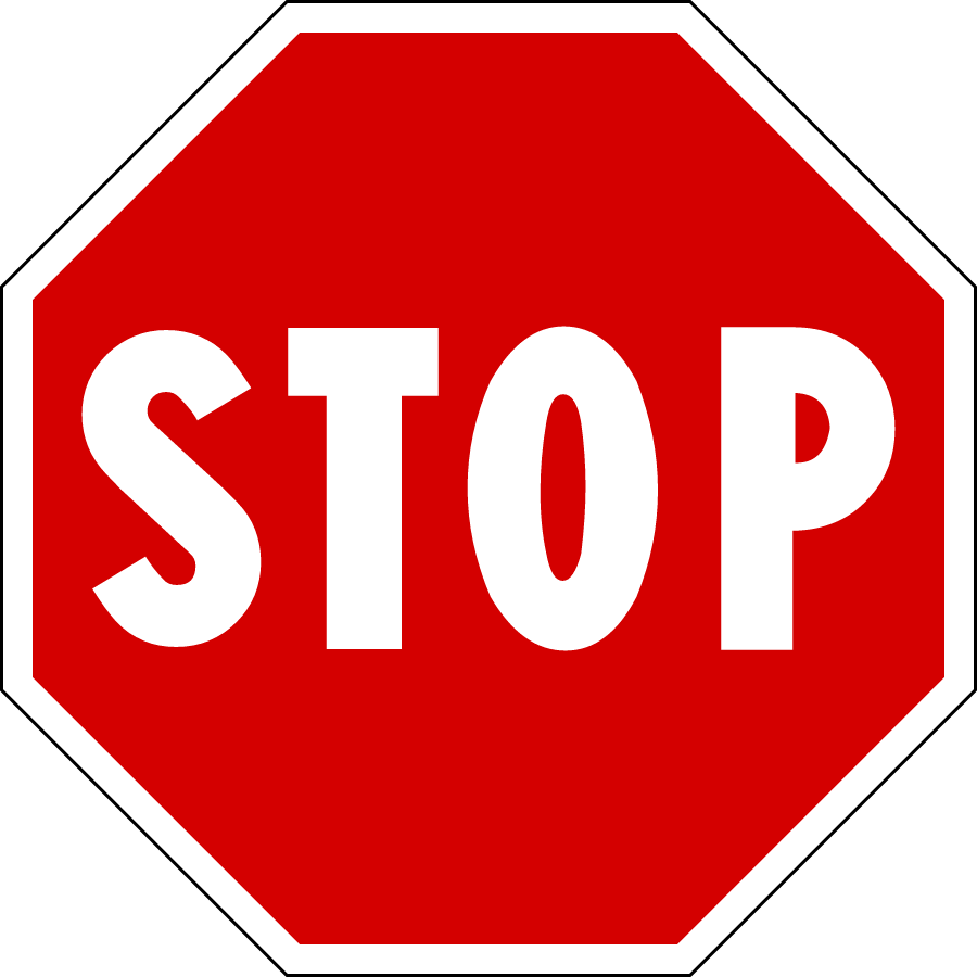 Road Signs And Symbols Like a Stop Sign or Other Road