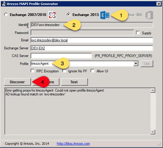 itrezzo MAPI profile generator