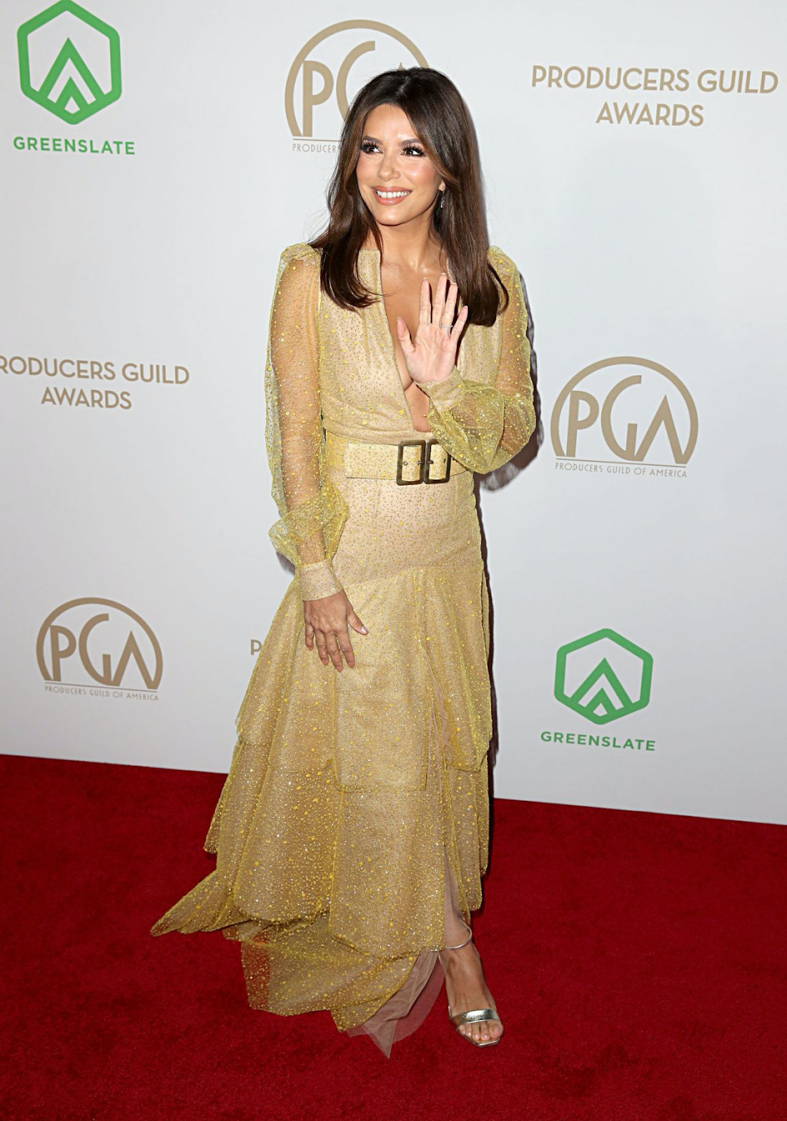 Eva Longoria wearing a Teresa Helbig dress at Producers Guild Awards