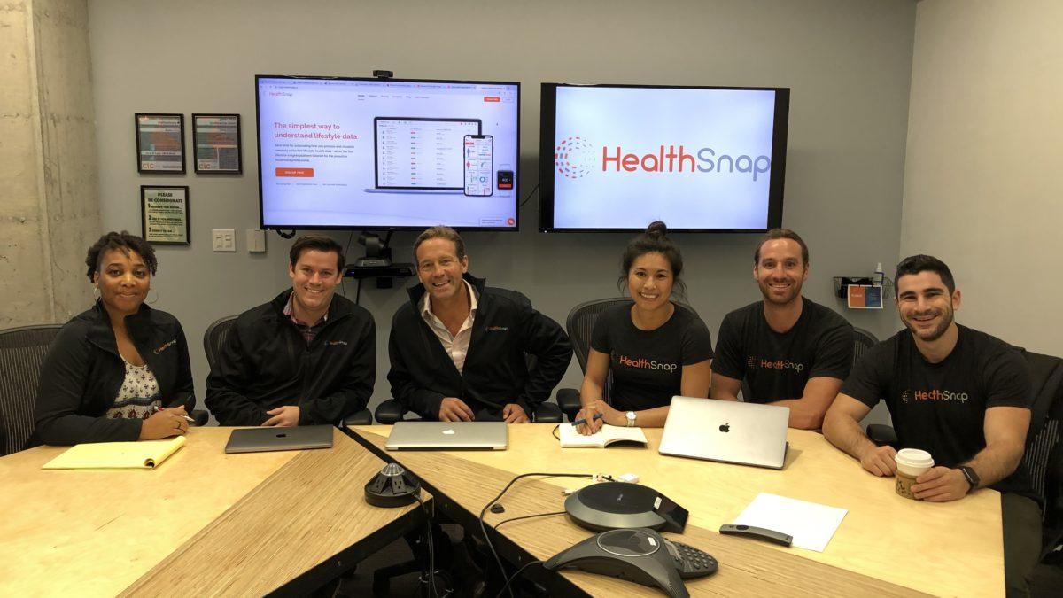 HealthSnap's team during a meeting