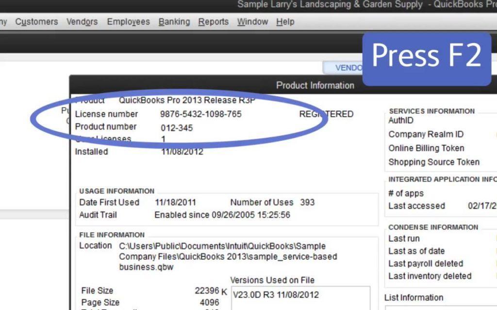 Product Information window - Screenshot Image
