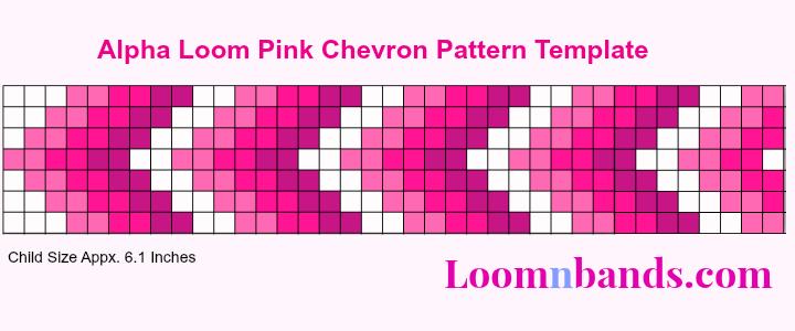 alpha loom pink chevron pattern template