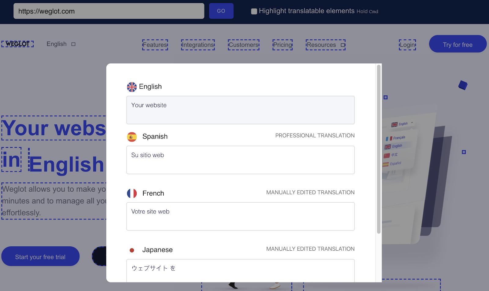 edit wix translations multilingual