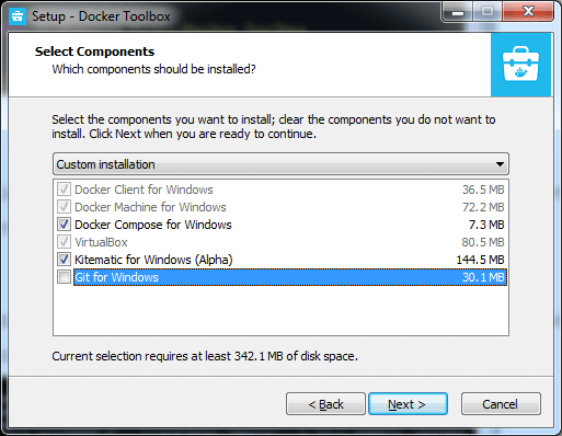 install the Docker in the Windows Operating System