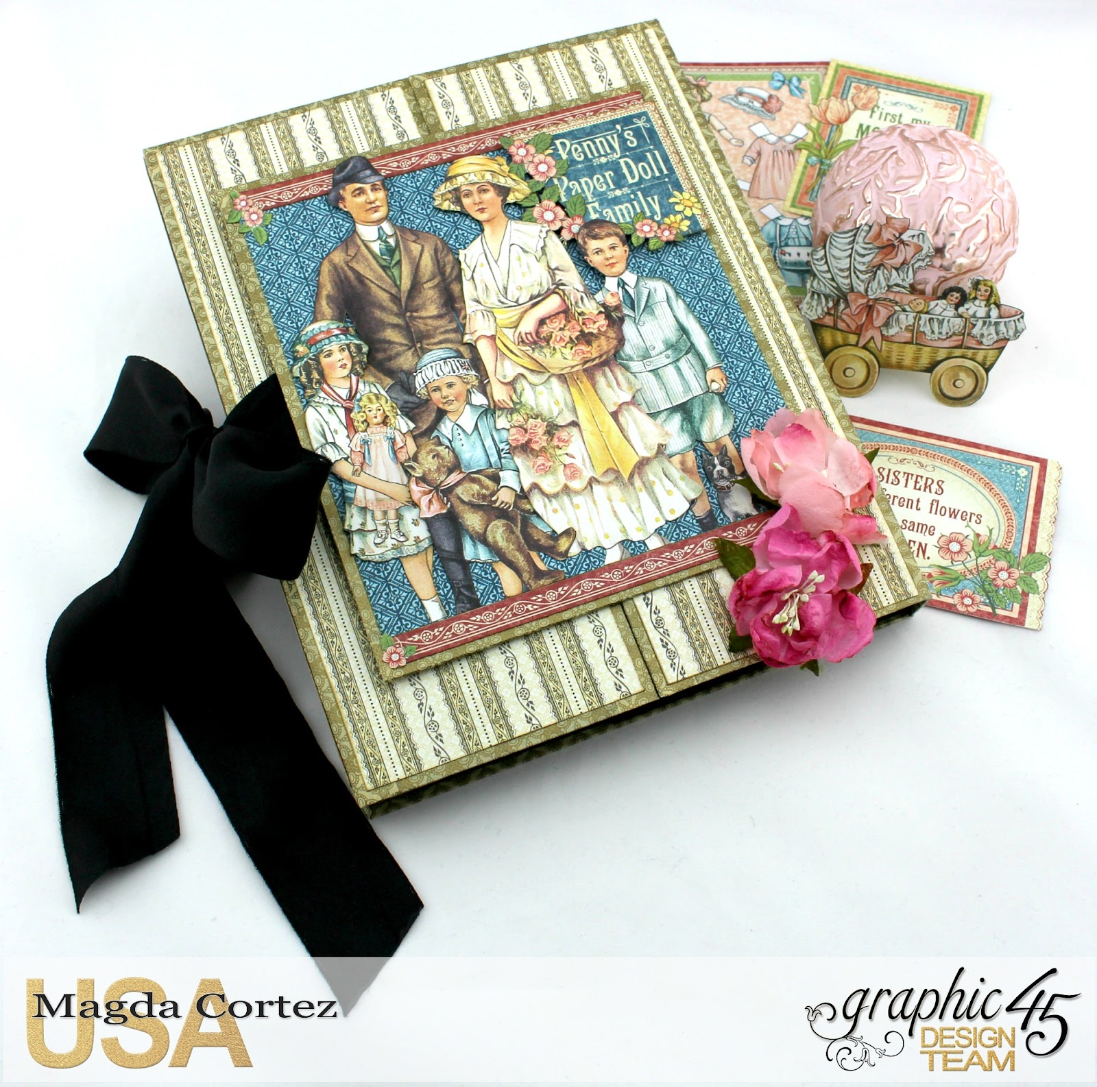 Penny's Paper Doll Family Book, Penny's Paper Doll Family, By Magda Cortez, Product of Graphic45, Photo 01 of 12.jpg
