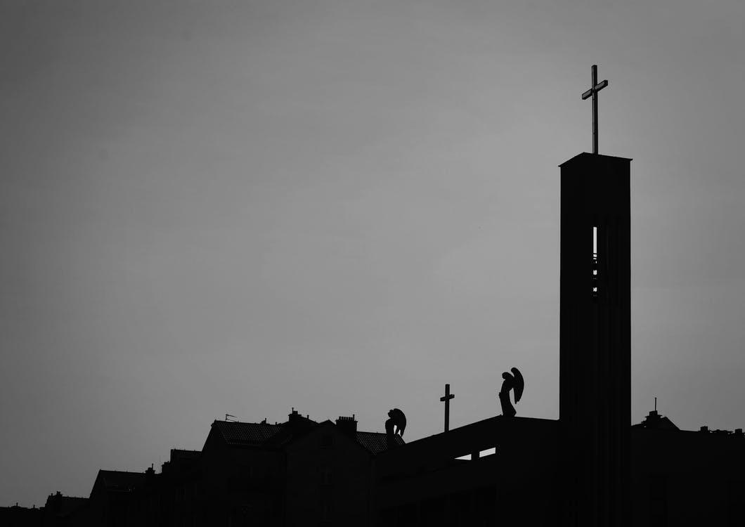 Silhouette Photo Of Cross