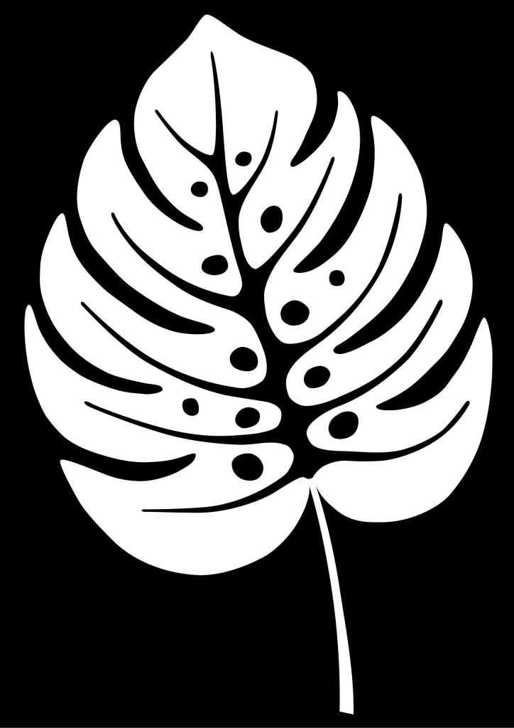 White leaf symbolizing Yang