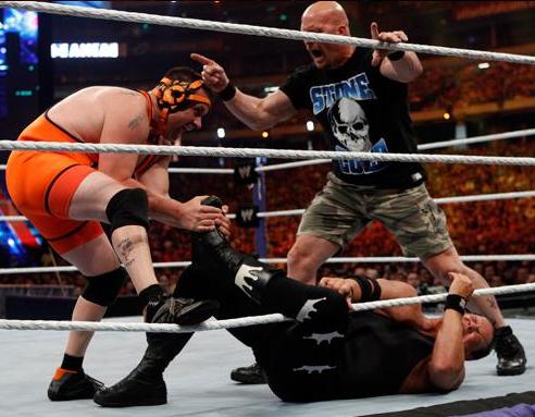Cole vs Lawler WM27 (WWE).JPG