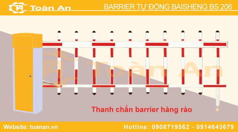Barrier tự động bs 206 sử dụng thanh chắn hàng rào.