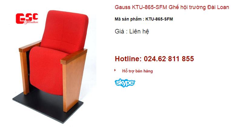 Ghế hội trường Đài Loan Gauss KTU – 865 - SFM