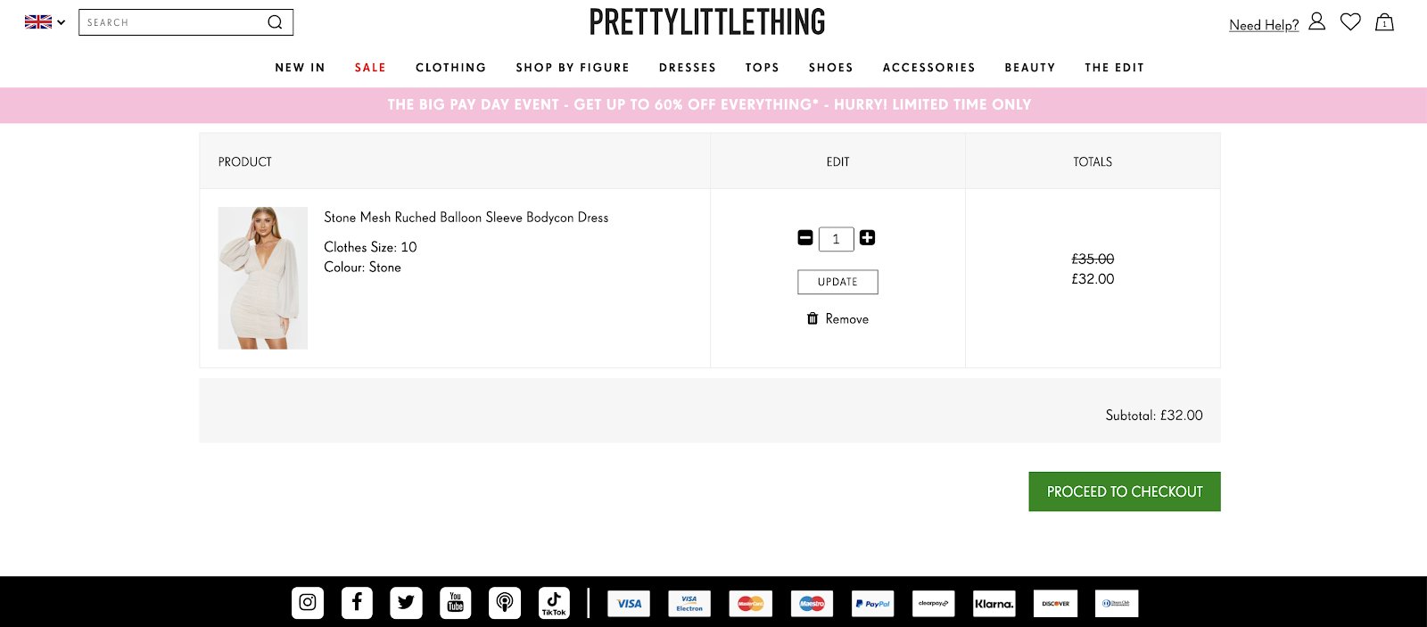 Pretty Little Thing website