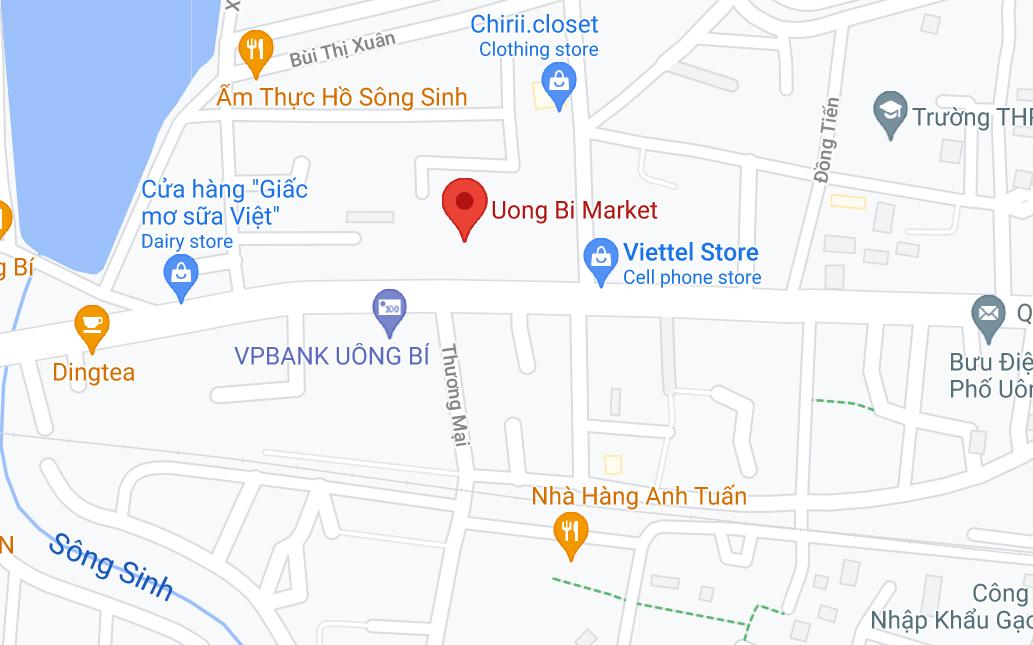 Địa điểm đón/trả khách tại Uông Bí