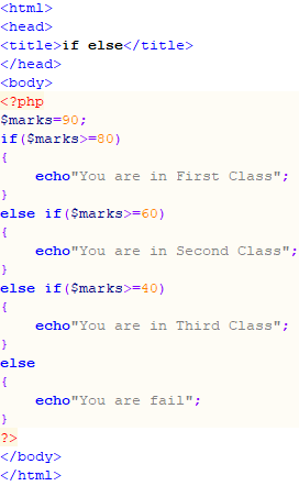 Professor Jayesh: PHP if else2